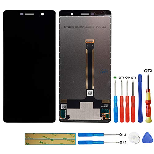 swark LCD-display compatibel met Nokia 7 Plus TA-1041, TA-1062, TA-1046 (zwart zonder frame) touchscreen digitizer Assembly glas + tools