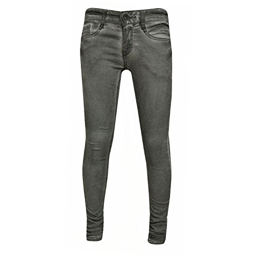 Blue Rebel - meisjesbroek jeans washed look. grijs