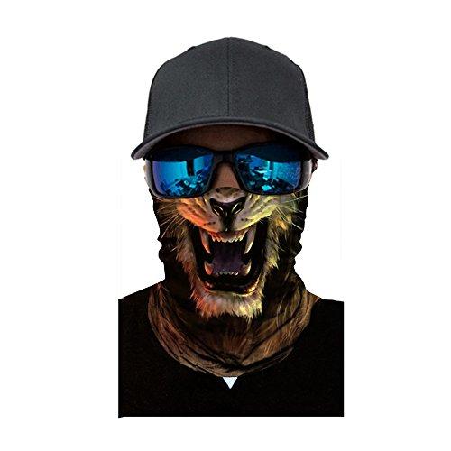 UYSDF Herren Gesichtsschutz Radfahren Motorrad Kopftuch Hals Gesichtsmaske Ski Sturmhaube Stirnband, Multifunktionstuch Schlauchschal Mund-Tuch Halsschlauch Cosplay-Maske Bandana (25X51CM, E-2)
