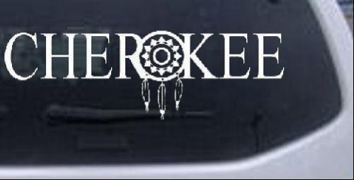 Rad Dezigns Cherokee with Dreamcatcher O Western Car or Truck Window...