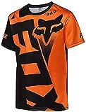 Maillot Ciclismo Hombre Camisetas De Manga Corta Bicicleta De Montaña/MTB Camiseta Transpirable Secado Rápido Ajuste Ceñido Correr Carreras Bicicleta Trajes Ropa (Naranja,3XL)
