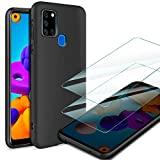 AROYI Case for Samsung Galaxy A21s & 2 Tempered Glass