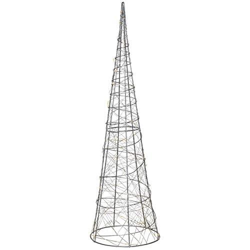 PYRAMIDE LED kerstverlichting metalen kandelaar staand in 2 maten 60 cm.