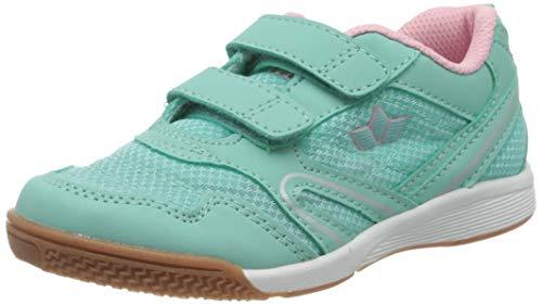 Lico BOULDER V Unisex Kinder Multisport Indoor Schuhe, Türkis/ Rosa, 35 EU