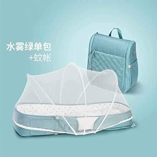 Rz-smb Kinderkrippe Faltbare Mobil Anti-Druck bionische Neugeborenen im Bett schläft Bett Bett Portable (Color : C)
