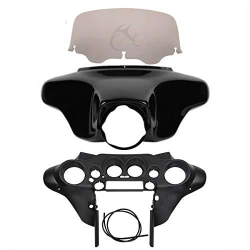 SLMOTO ABS Batwing Inner Outer Fairings Smoke Windscreen Fit for Harley Touring Electra Glides Road Glides Road Kings Street Glides Ultra Classic FLHTCU FLHTCU FLHTK FLHTC1996-2013