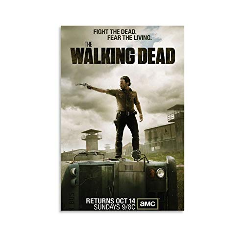 Classic TV Series Posters The Walking Dead Season 3 Canvas Art Poster and Wall Art Picture Print Modern Family Bedroom Decor Posters 20x30inch(50x75cm)