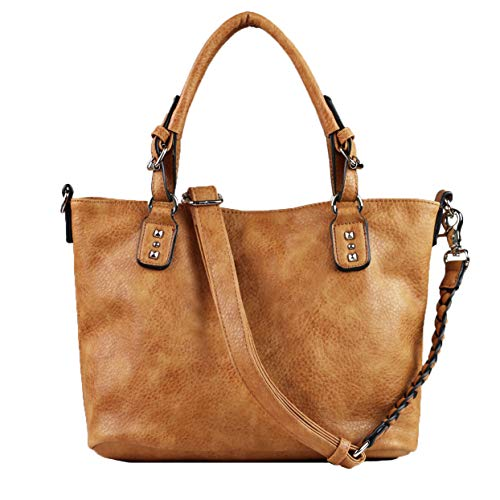 Concealed Carry Purse - YKK Locking Ella Braided Concealed Weapon Tote by Lady Conceal (Cinnamon)