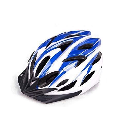 HONGLONG Casque de vélo Hommes, Casques vélo en Fibre de Carbone, Casques de tir Respirant Basket, Sports de Plein air Casques de sécurité, Hommes et Femmes Adultes Casques vélo,Bleu