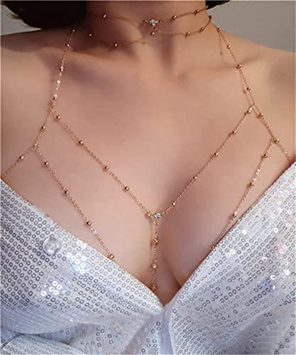Collar de Mujer Estilo Bohemio Collar en Capas Cadena de Pecho Cadena de...