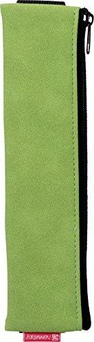 Brunnen 104903552 Schlamper-Etui Colour Code mit Gummiband (21 x 5 x 1 cm, in Veloursleder-Optik) grün/kiwi
