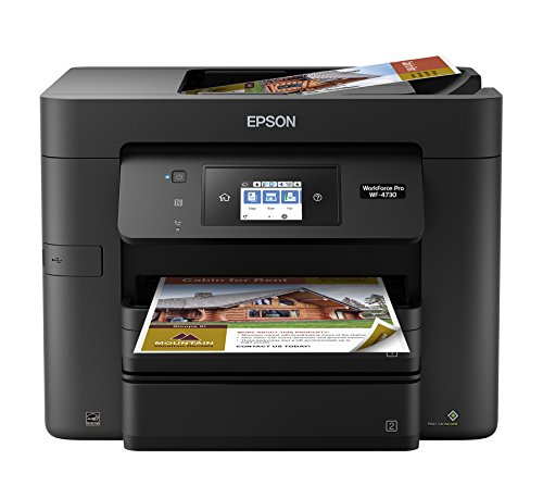 Epson WorkForce Pro WF-4730 Wireless All-in-One Color Inkjet Printer, Copier, Scanner with Wi-Fi Direct, Amazon Dash Replenishment Ready