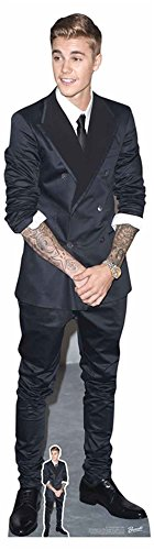 empireposter Justin Bieber - Smart Suit and Smile - Prominente Star VIP - Pappaufsteller Standy - 49x177 cm