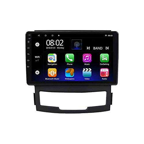 Coche Estéreo Para Ssangyong Korando 3 2010-2013 Head Unit Touch Pantalla Táctil Radio Receptor Sat Nav Multimedia Player Support Mirrolink Bluetooth Llamada Manos Libres,8 core 4g+wifi: 4+64gb