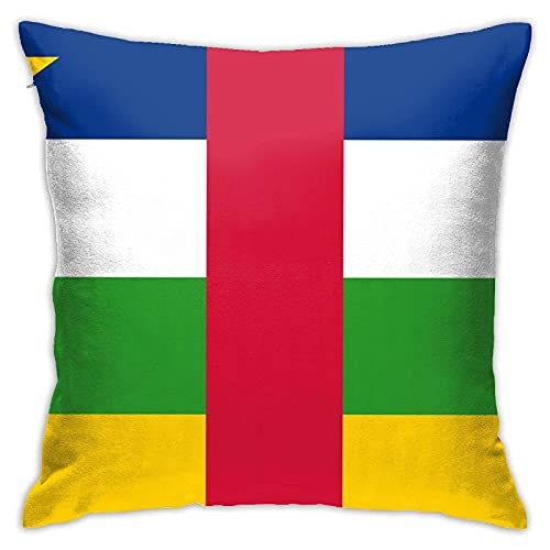 Dekorative Kissenhülle mit Flagge der Zentralafrikanischen Republik, 45,7 x 45,7 cm