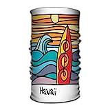 Quintion Robeson Elegante Crazy Bandana Neck Gaiter Head Wrap Headband Scarf Ultra Soft Elastic Handscarf Hawaii Beach Surfer Poster Hawaii Beach Surfer Poster