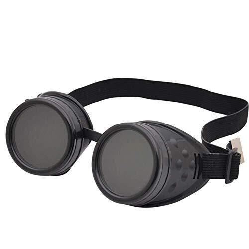 HYY-YY Brille Motorradbrille Steampunk Brille Sonnenbrille Antibeschlag und Antirash Linsen Sport, F