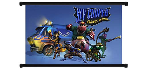 Daaint baby Sly Cooper: Thieves in Time Game Fabric Wall Scroll Poster (32' x 20') Inches