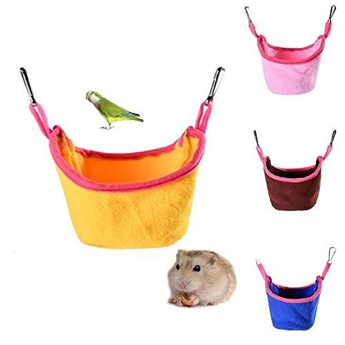 Yellow Fleece Pet Hamster Hanging House Hammock Small Animal Hamster Rat Bird Cage Sleeping Nest Bed Small Pet Accessories Product