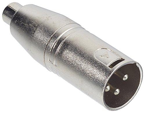 Valueline XLR-3MRCAF - Adaptador XLR MONO 3 Pines Macho - RCA Hembra (plata)