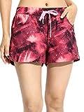 水着 レディース 海水パンツ サーフパンツ トランクス gwa081 XL(ウエスト80cm~90cm) ギャラクシーレッド