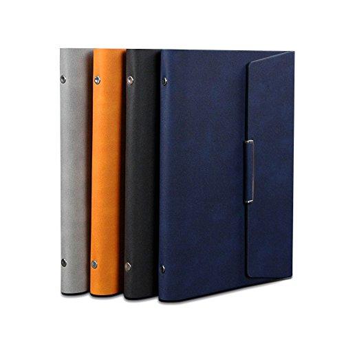 Zhi jin A5taccuino in pelle elegante Cover rigida sciolto foglia diario della penna Holder Business fibbia magnetica Orange