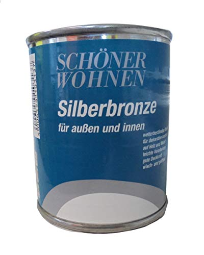 Schöner Wohnen 125ml Metallglanzfarbe Silberbronze, für außen und innen