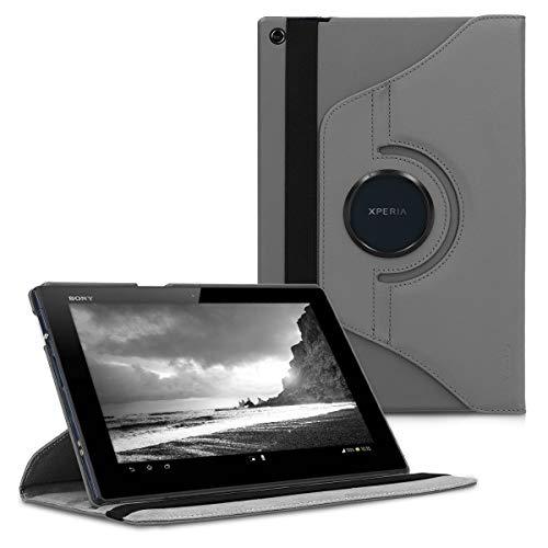 kwmobile Funda Compatible con Sony Xperia Tablet Z - Carcasa de Cuero sintético para Tablet en Antracita