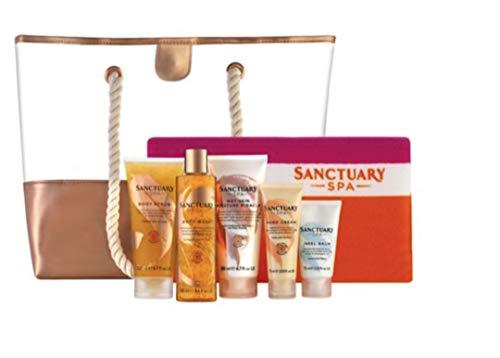 Sanctuary Spa Golden Summer Beach Handdoek, tas en 5 toevluchtsoord spa-producten