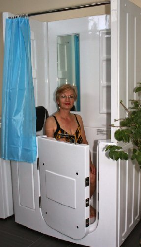 Senioren Dusche Sitzbadewanne Sitzwanne Duschbadewanne mit Tür Pool A108D
