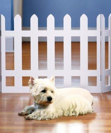popular Folding sale White Picket Fence PET GATE - ADJUSTS outlet online sale to Over 3 1/2 FT.Wide! online