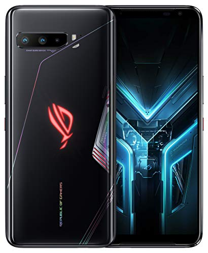 "ASUS ROG Gaming Phone 3-6.59"" FHD+ 2340x1080 HDR 144Hz Display - 6000mAh Battery - 64MP/13MP/5MP Triple Camera with 24MP Front Camera - 512GB Storage - 5G LTE Unlocked Dual SIM Cell Phone (12GB)"