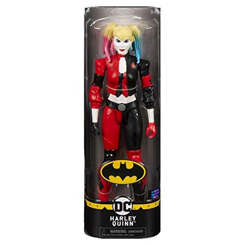 DC Comics, Batman Harley Quinn, Personaggio in scala 30 cm con costume originale e dotato di 11 punti di articolazione, dai 3 Anni , 6056693