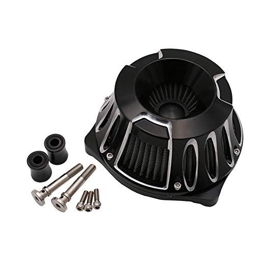 Wisess Motorrad Luftfilter Stufe 1 Luftfilter Für H-Arley Dyna Softail Twin Cam Modelle 1999-2015, Luftfilter Für Sportler,Schwarz