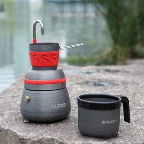 Junjiagao-Prodotti all'aperto Produits d'extérieur Outil de Camping en Plein air Réchaud à café avec 2 Tasses à café Camping Tool, abordable