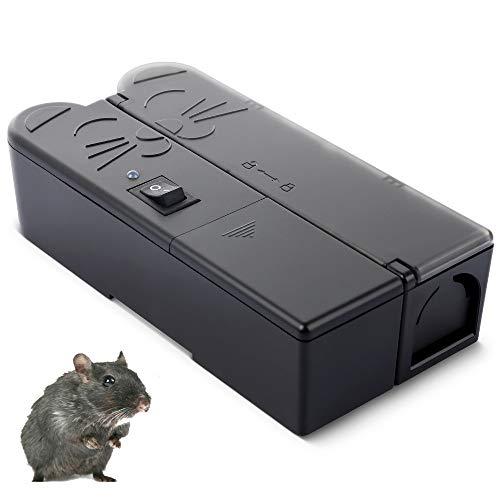 Trampa para Ratas con Ratones Eléctricos Trampas para Ratas Que Matan Instantáneamente...