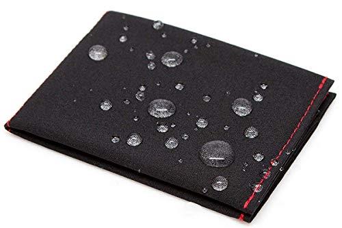 SlimFold Minimalistische Geldbörse – RFID-Option – dünn, langlebig und wasserdicht – hergestellt in den USA – Mikrogröße - Schwarz - Einheitsgröße