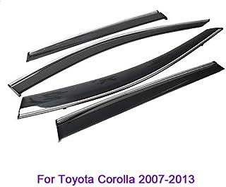 Generico Set DEFLETTORI Antivento Auto Compatibile con Toyota Corolla Verso 5P 2005 PARAVENTO Anti Vento Acqua Turbo Fume G3