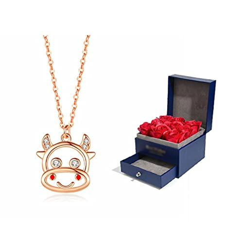 zxb-shop Collar Collares de Lujo Ligeros para Mujeres, Collares, acompañados de Buena Suerte, Fortuna y Fortuna, convierten Las Cosas Alrededor Collar Mujer (Color : B)