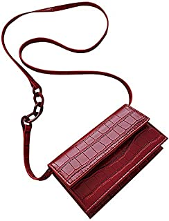 TOOGOO Women Bag Fashion Crocodile Shoulder Bag Ladies Purses Messenger Crossbody Bags for Women Red
