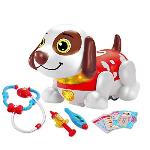deAO Animale Interattivo per Praticare Inglese attività di Apprendimento del Bambini con Cane Robot Intelligente Giocattolo Elettronico Multifunzionale (Veterinario)