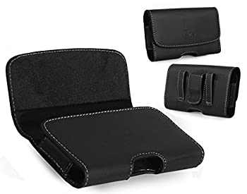 Motorola DROID RAZR M Case TMAN Premium Horizontal Leather Pouch Carrying Case with Belt Clip Belt Loops Holster for Motorola DROID RAZR M  Fits with Otterbox and Other Thick Protective Case
