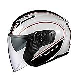 オージーケーカブト(OGK KABUTO)バイクヘルメット ジェット EXCEED DELIE(デリエ) ホワイトブラック (サイズ:M) 577087