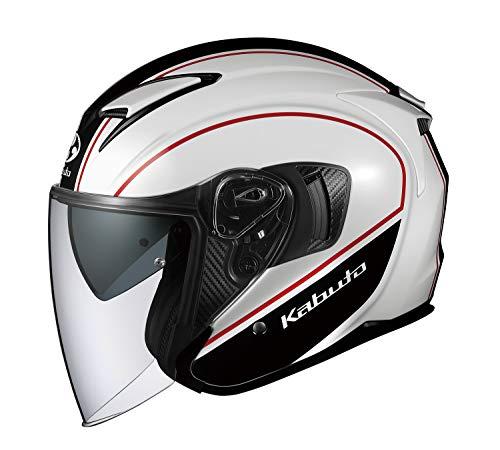 オージーケーカブト(OGK KABUTO) バイクヘルメット ジェット EXCEED DELIE(デリエ) ホワイトブラック (サイズ:M) 577087