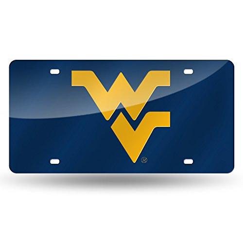 Rico Industries NCAA West Virginia Mountaineers Laser Inlaid Metal License Plate Tag