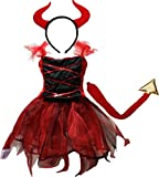 Petitebella Halloween Costume Dress 2-12y (10-12 Years, Red Devil)