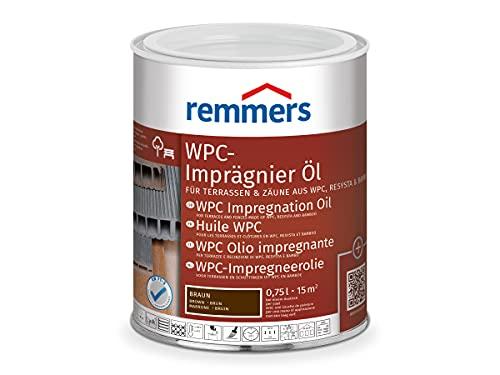 Remmers WPC-Imprägnier-Öl braun, 0,75 Liter, lösemittelbasiertes WPC Öl für innen und außen, für Terrassen, Zäune oder Gartenmöbel aus...