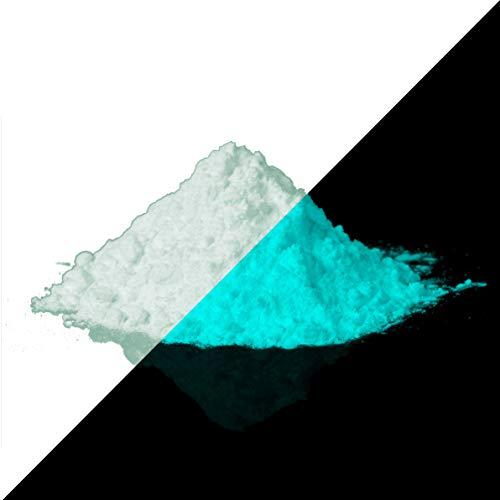 lumentics Superpremium Leuchtpulver GrünBlau 40g - Im Dunkeln leuchtendes Farbpulver. Nachleuchtend, phosphoreszierend, fluoreszierend und nachleuchtend. UV Pigmente für DIY, Harz, Lack, Epoxy