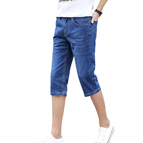 Men's Jeans Endurance Fashion Plus Size Summer Thin Slim Stretch Korean 34