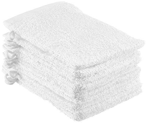 NatureMark 10er Pack Waschhandschuh, weiß, 15x21cm
